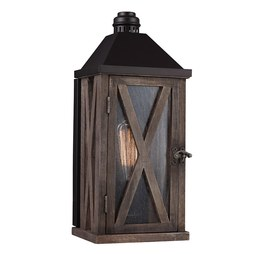 Feiss OL17000DWO/ORB Lumiere Single-Light Outdoor Wall Lantern
