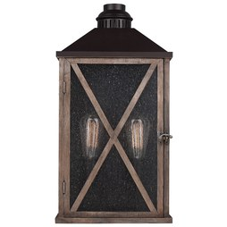 Feiss OL17004DWO/ORB Lumiere Two-Light Outdoor Wall Lantern