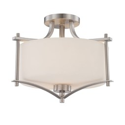 Savoy House 6-334-2-SN Colton Two-Light Semi-Flush Mount Ceiling Fixture