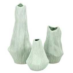 IMAX 25720-3 Selina Wavy Ceramic Vases Set of 3