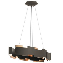 Kichler 42993OZLED Moderne Two-Light LED Oval Chandelier/Pendant