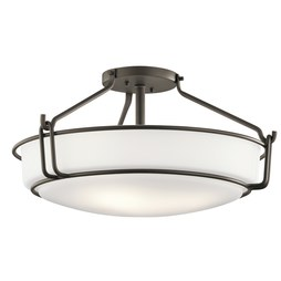 Kichler 44086OZ Alkire Four-Light Semi-Flush Mount Ceiling Fixture