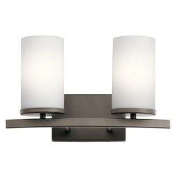Kichler 45496OZ Crosby Two-Light Bathroom Vanity Fixture