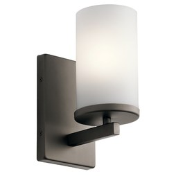 Kichler 45495OZ Crosby Single-Light Bathroom Wall Sconce