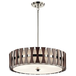 Kichler 43753AUB Cirus Four-Light Pendant/Semi-Flush Mount Ceiling Fixture