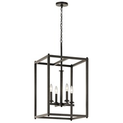 Kichler 43998OZ Crosby Four-Light Foyer Pendant