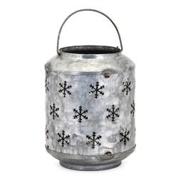 Homestead Christmas Small Metal Snowflake Lantern