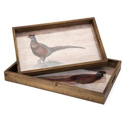 IMAX 80308-2 Harvest Pheasant Trays Set of 2