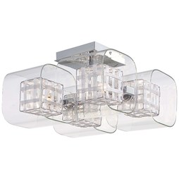 George Kovacs P802-077 Jewel Box Four-Light Semi-Flush Mount Ceiling Fixture