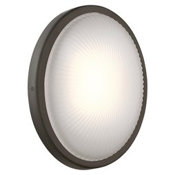 George Kovacs P1145-143-L Sconce Radiun 1 Lamp Oil Rubbed Bronze Glass or Shade Etched Textured ADA LED 10 Watt