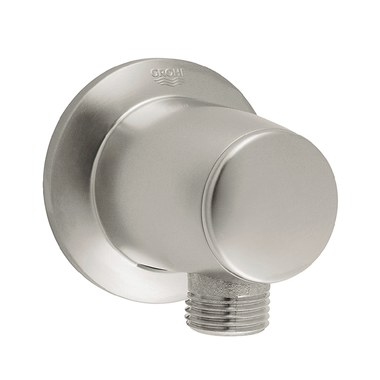 """Grohe 28484EN0 Brushed Nickel Movario Wall Supply Elbow With 1//2/"""" Connection"""