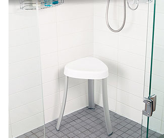 Shower seats, bath stools, and benches