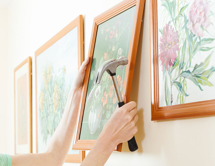 How to Hang Wall Art with a Hanging Wire | Riverbend Home