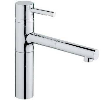 45-degree angle faucet spout