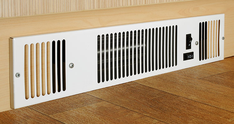 Kickspace heaters are great for under cabinets.