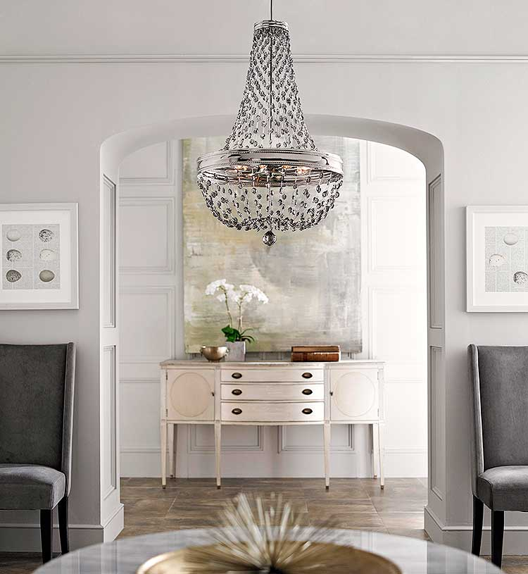 Several factors come into place when installing a foyer chandelier.