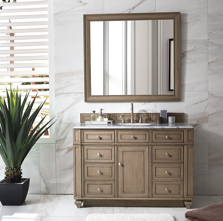 Traditional bath vanities have a classic design with elegant details.