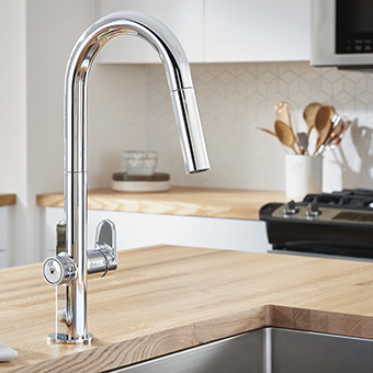 Contemporary & Modern Kitchen Sink Faucets