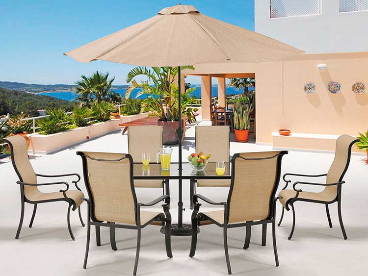 Add shade in open areas with an umbrella.