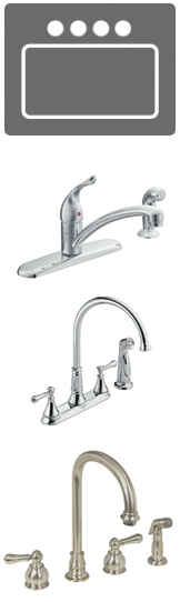 Four hole faucets