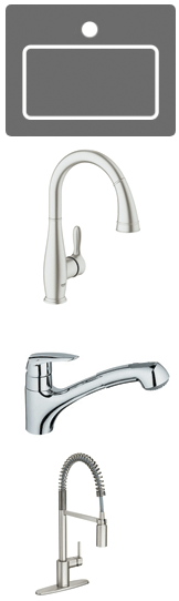 One hole faucets