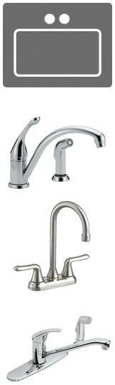Two hole faucets
