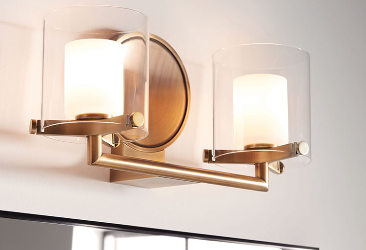 Fixtures with glass shades stand up to damp environments.