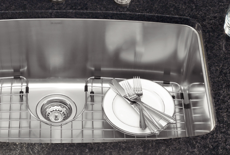 A grid will protect your sink from scratches and delicate china from damage.