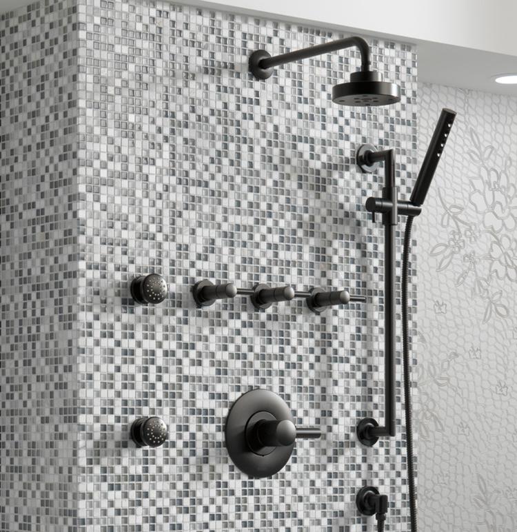 Single-Handle Spray Tub Shower Faucet With Valve Hot//Cold Control Bathroom Bath
