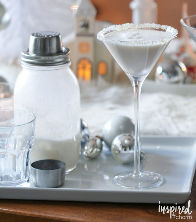 White Christmas Martini