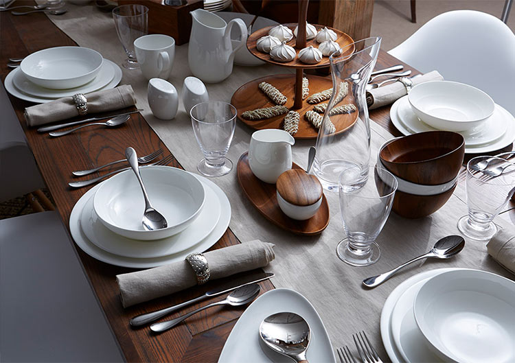 A great table consists of serveware, plates, glassware, drinkware, flatware, and table linens.