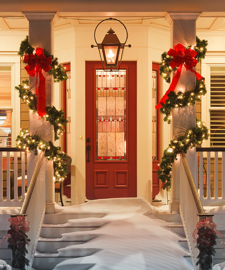 Give your home a welcoming look with seasonal decorations.