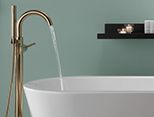 Floor mount or free-standing tub faucet