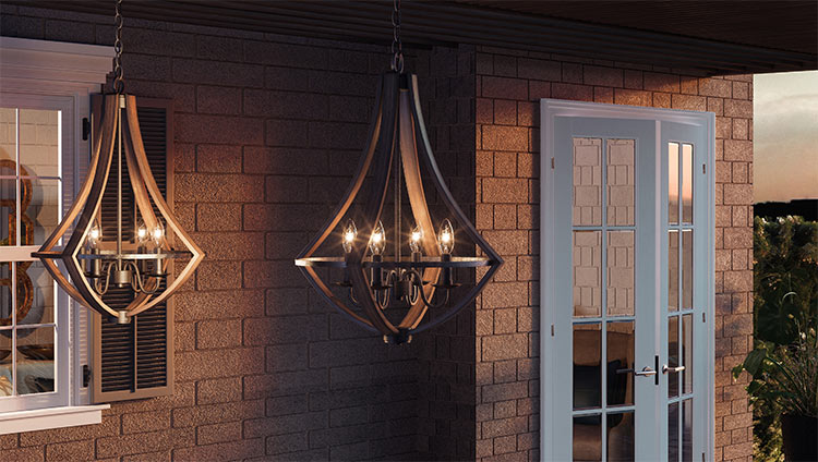 Add an extra touch of style with your light fixtures.